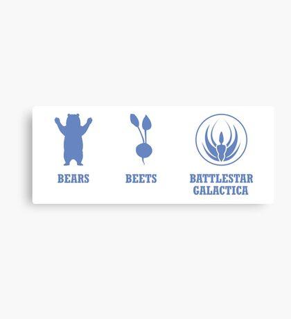 Bears, Beets, Battlestar Galactica Canvas Print