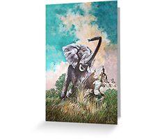 Elephant Rage Greeting Card