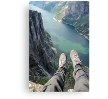 Above the fjord Canvas Print