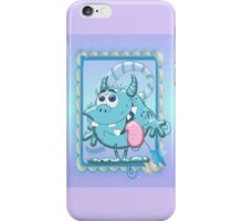 Cute Blue Monster iPhone Case/Skin