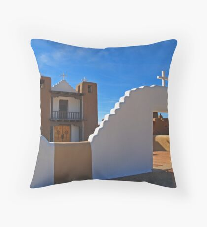 San Geronimo Church, Taos, New Mexico Throw Pillow