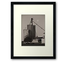 Full Moon On The Farm Framed Print