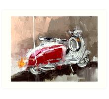 Red Lambretta Art Print