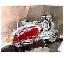 Red Lambretta Poster