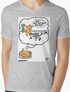 Dogs Dream. Mens V-Neck T-Shirt