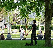 Juggler in Eyre Square, Galway, Ireland. Photographic Print