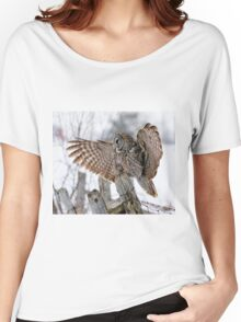 Great Grey Owl - Dunrobin, Ontario Women's Relaxed Fit T-Shirt