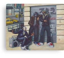 3 Heroes and a Boombox Canvas Print
