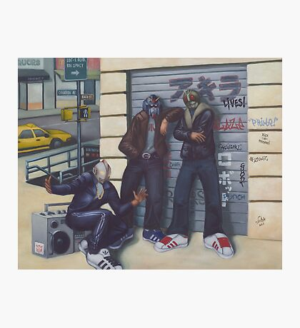 3 Heroes and a Boombox Photographic Print