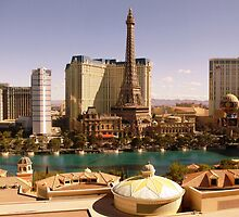 Las Vegas Strip from the Bellagio Hotel. by Brian220