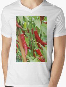 Red hot chilli Mens V-Neck T-Shirt