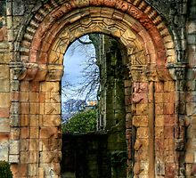Side Door at Jedburgh Abbey by Christine Smith