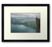 At the edge of a cliff Framed Print
