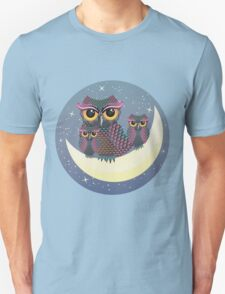 Owls on the Crescent Moon T-Shirt