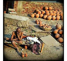 The Old Man and the Pots Photographic Print