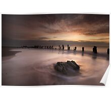 Dawn At Spurn point Poster
