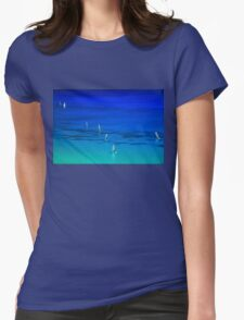 Surfing in Lefkada Womens Fitted T-Shirt