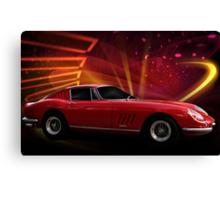 """1967 Ferrari 275 GTB/4 Berlinetta """"Catch Me, If You Can!"""" #1 Canvas Print"""
