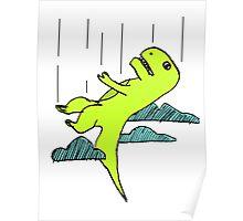Falling T-Rex Poster