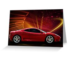 "2004 Ferrari 360 Modena ""Catch Me If You Can"" #3 Greeting Card"