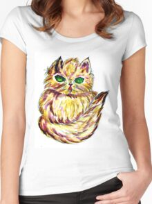 Persian Cat 2 Women's Fitted Scoop T-Shirt