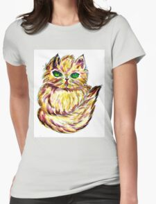 Persian Cat 2 Womens Fitted T-Shirt
