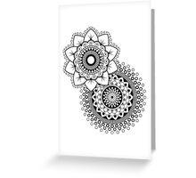 Mandala Flower duplo Greeting Card