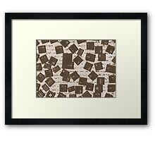 Old vs new (jumbled words) Framed Print