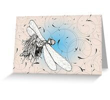 Luckdragonfly Greeting Card