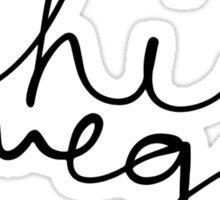 Chi Omega Sloppy Cursive Sticker