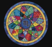 SCORPIO Tapestry of Life Mandala by vickieverlie