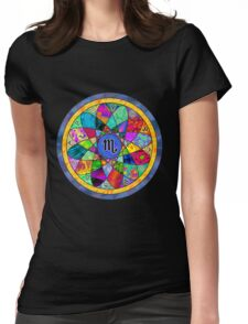 SCORPIO Tapestry of Life Mandala Womens Fitted T-Shirt