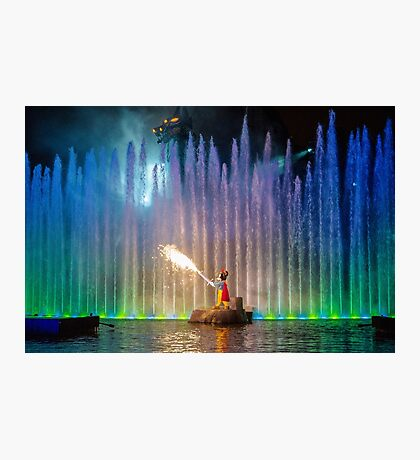 Fantasmic! Mickey Photographic Print