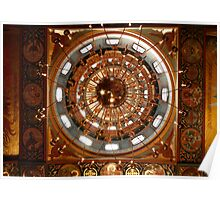 Russian Orthodox church chandelier Poster