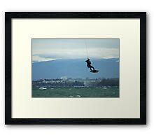 flying man Framed Print
