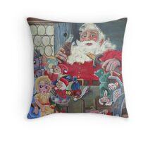Coke Santa Throw Pillow