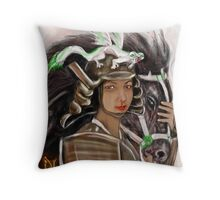 ISKAMONTERO as MULAN Throw Pillow