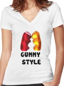Gummy style Women's Fitted V-Neck T-Shirt