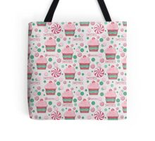 Cupcake and Candy Sweetness Pattern Tote Bag