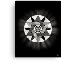 Star of David Mandala 2 in Black and White Canvas Print