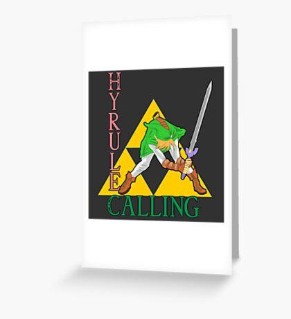 Hyrule Calling! Greeting Card