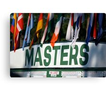 The Masters Leader-board Canvas Print