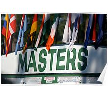 The Masters Leader-board Poster