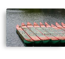 Boston Common Boats Canvas Print