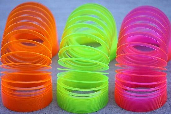 Neon Slinkies by Robert Armendariz