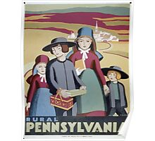 WPA United States Government Work Project Administration Poster 0388 Rural Pennsylvania Poster