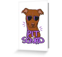 RED PIT SQUAD Greeting Card