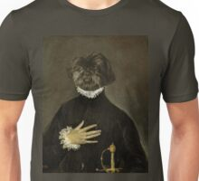 Gentleman with his hand on his chest Unisex T-Shirt