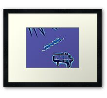 The Day The Music Died Framed Print