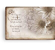Romance Blossoms Canvas Print